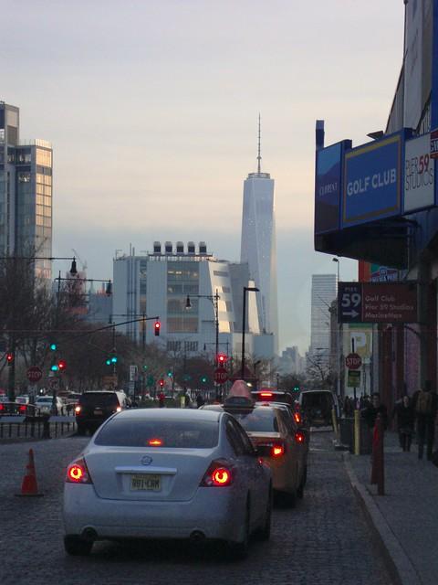 Вид на самое высокое здание Нью Йорка и США - Башню Свободы (Freedom Tower)