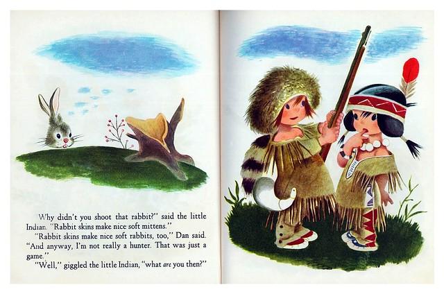 002-The Little Trapper- Illustrated Gustaf Tenggren- Copyright 1950- via goldengems.blogspot