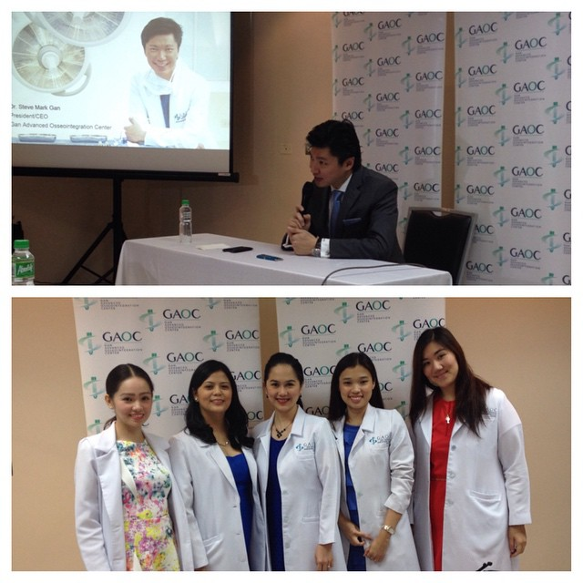 Dr. Steve Mark Gan, President and CEO of GAOC with resident dentists at the opening of #GAOC in St. Luke's Global City. <veggiecircle.blogspot.com>