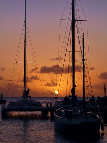 sea caribbean sunrisesunset boatsships