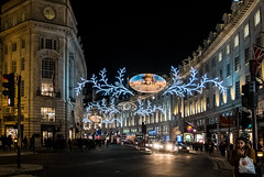 Lights - Regent Street (High ISO) (Fuji X30)