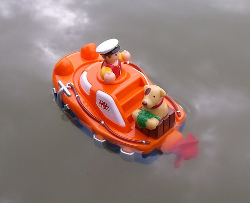 Lifeboat toy afloat