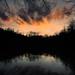 sunset at the pond-4166_3 by BillRhodesPhoto