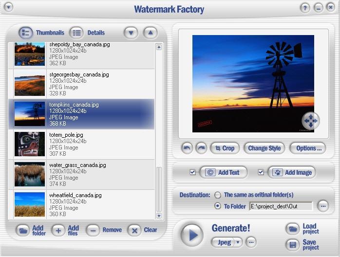 Watermark Factory 2.58 Full Crack, Phần mềm đóng dấu ảnh đơn giản, Download Watermark Factory 2.58 Full Crack