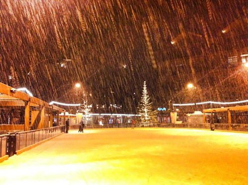 Northstar Village getting snow
