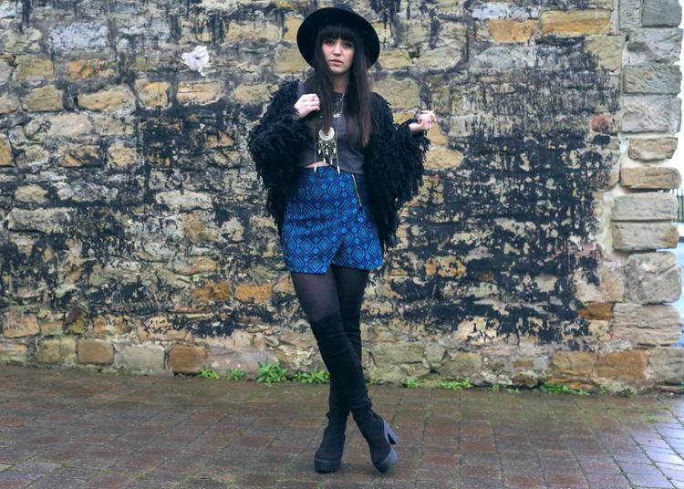 bohemian outfit, ka ching boots