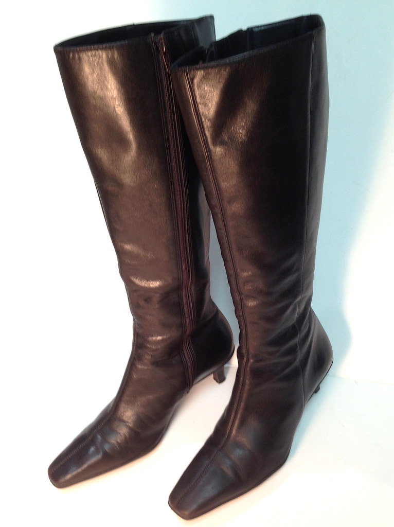 quot loft quot chocolate brown leather boots 2