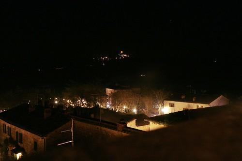 Bagno Vignoni: la vista dalla terrazza dell'hotel