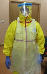 personal protective equipment, clothing, yellow, hazmat suit,