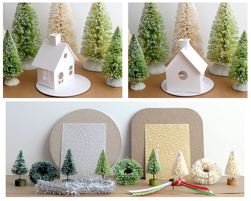 Putz House Ornament Kit / AllThingsPaper.net