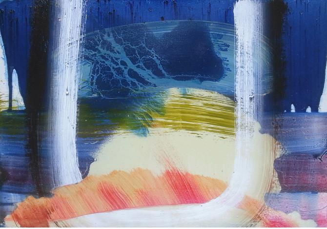 Felix Bucklow Untitled Oil Wood Panel 650x350mm 2013