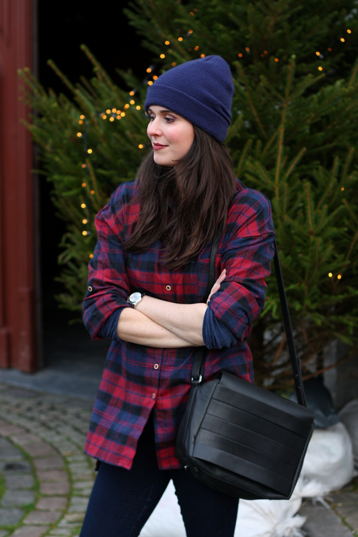 oversized plaid shirt, and other stories satchel