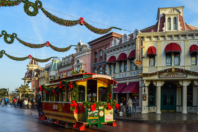 disneyland horse drawn carriage christmas Flickr Photo Sharing