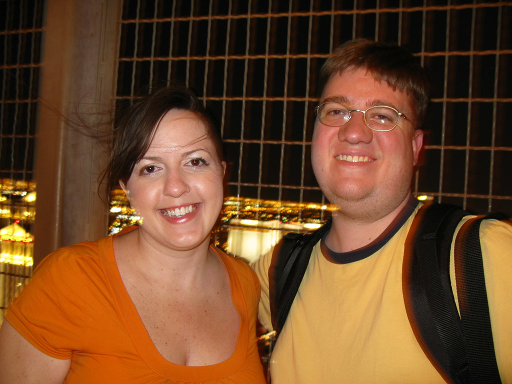 Ken and I at the top of the Paris Hotel's Eiffel Tower in Vegas