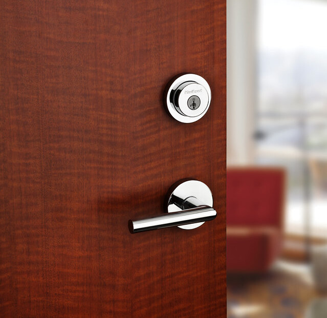 Kwikset's Milan lever is part of its contemporary collection