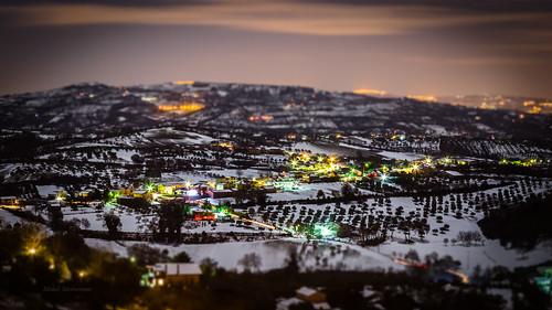 longexposure winter italy snow night canon landscape lights italia campania hills neve luci 1855 inverno notte paesaggio miniatura colline benevento tiltshift 600d sannio paduli