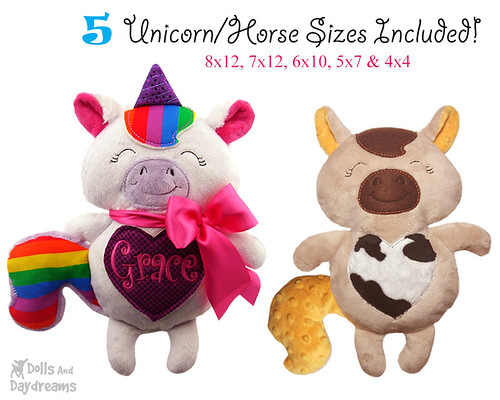 Unicorn Horse ITH DIY Stuffies
