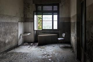 stanze nell'ex manicomio