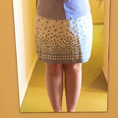 Dotty Pencil Skirt
