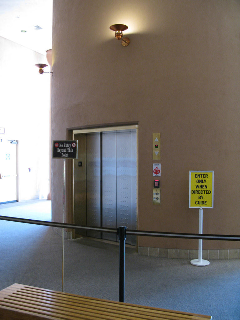Waiting for the Elevator that takes you to the bottom of the Hoover Dam