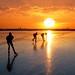 Skating away on thin ice into the sundown by B℮n