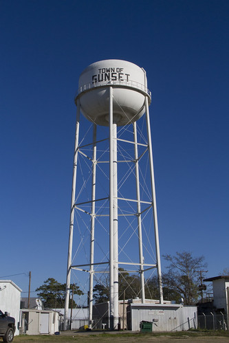 sunset tower water town louisiana small watertower