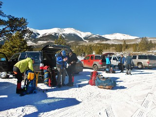 CMC Mountaineers at South Mt. Elbert Trailhead