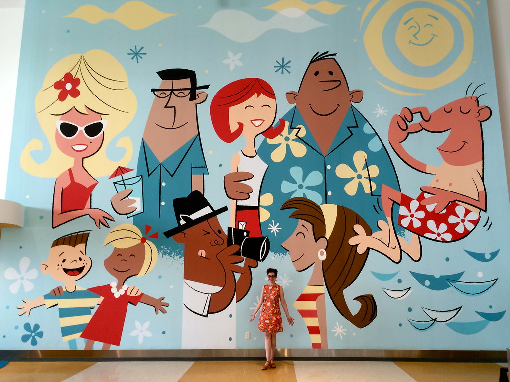 Mod Betty at Universal Studios Cabana Bay Orlando Florida 2016