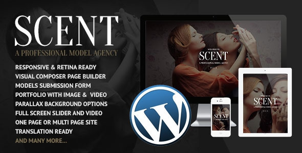 Scent v3.2.6 - Model Agency Wordpress Theme