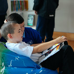 Schoolchildren enjoying books in the pop-up bookshop | © Jassy Earl