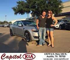 Congratulations Kristin & Jeremy on your #Kia #Cadenza from Ivan Rodriguez at Capitol Kia!