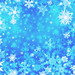 Blue Snow Background
