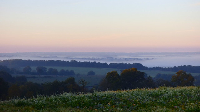 Brouillard sur le Sud du Cher - Bocage du Boischaut - Cher - Berry - Centre - France