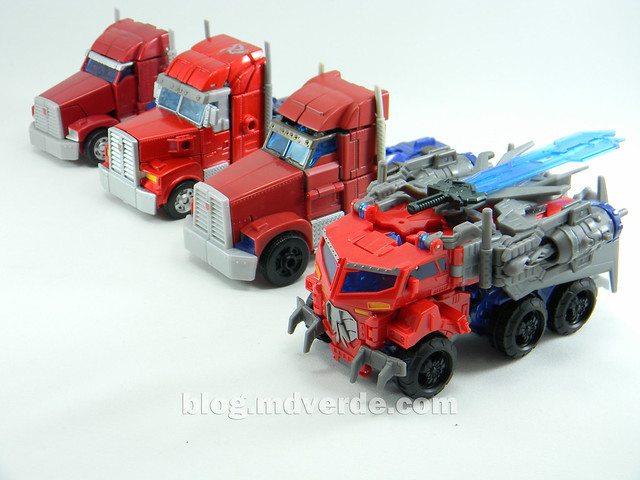 Transformers Hunter Optimus Prime Voyager - Transformers Go - modo alterno vs otros Optimus