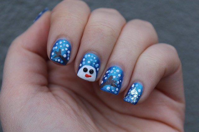 Snowman Manicure | Holiday | #LivingAfterMidnite