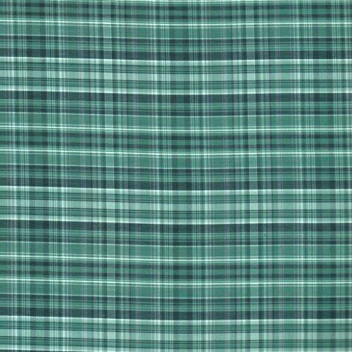 水綠格子 格紋  滾邊包邊 襯衫服裝布料 FC590265