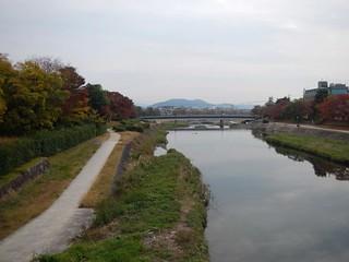 葵橋より賀茂川を