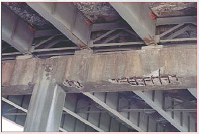 Spalling bridge structure