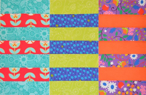 3 Rugby Stripes blocks for CHEER at do. Good Stitches