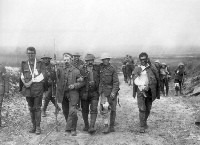 WW1 Casualties Leaving Battlefield