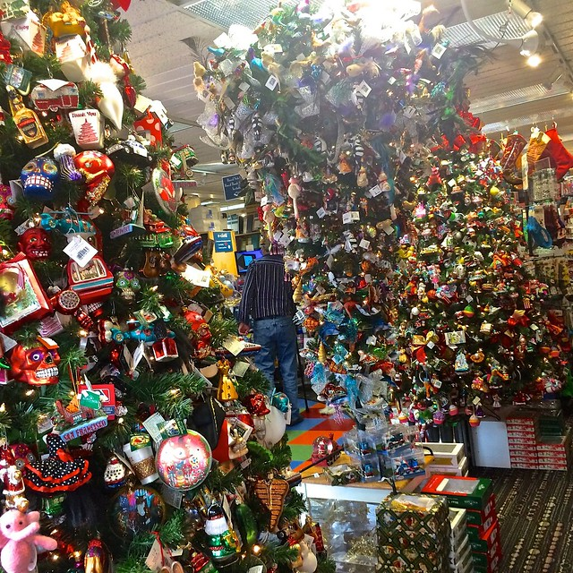 Just for fun store abundance of xmas decor including