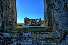 Ruins through the window