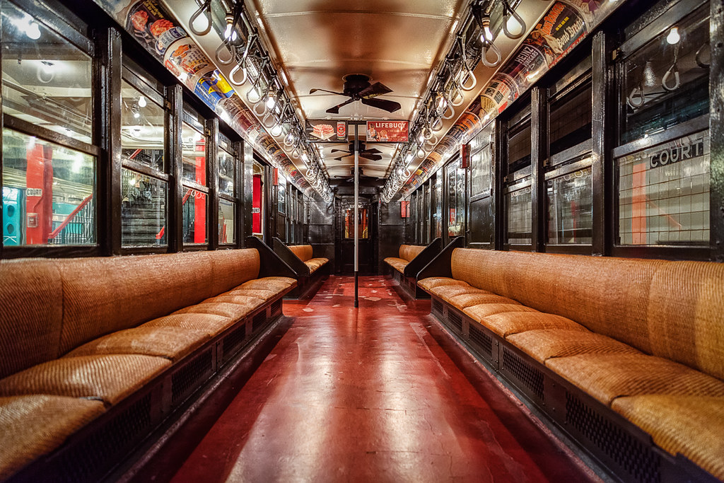 HDR Antique NYC Subway Car