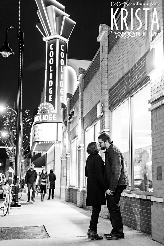 Adorable Engagement Portrait Session in Coolidge Corner, Brookline, MA