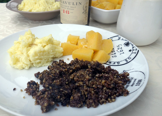 Haggis, bashed neeps and chappit tatties