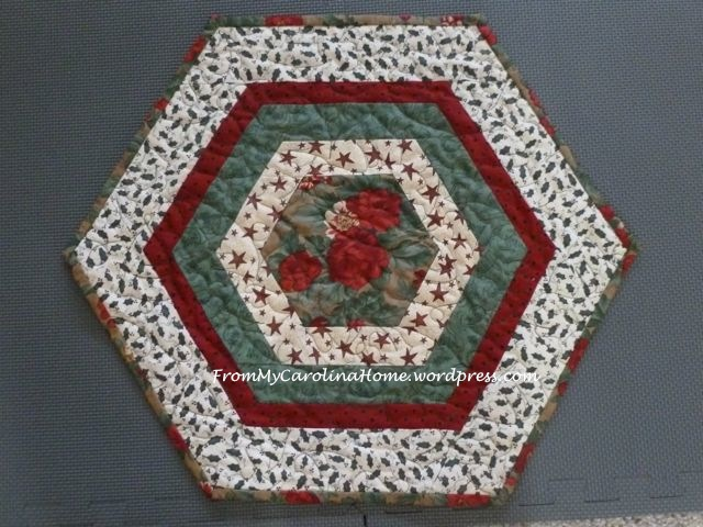 Christmas Hexagonal Table Topper 14