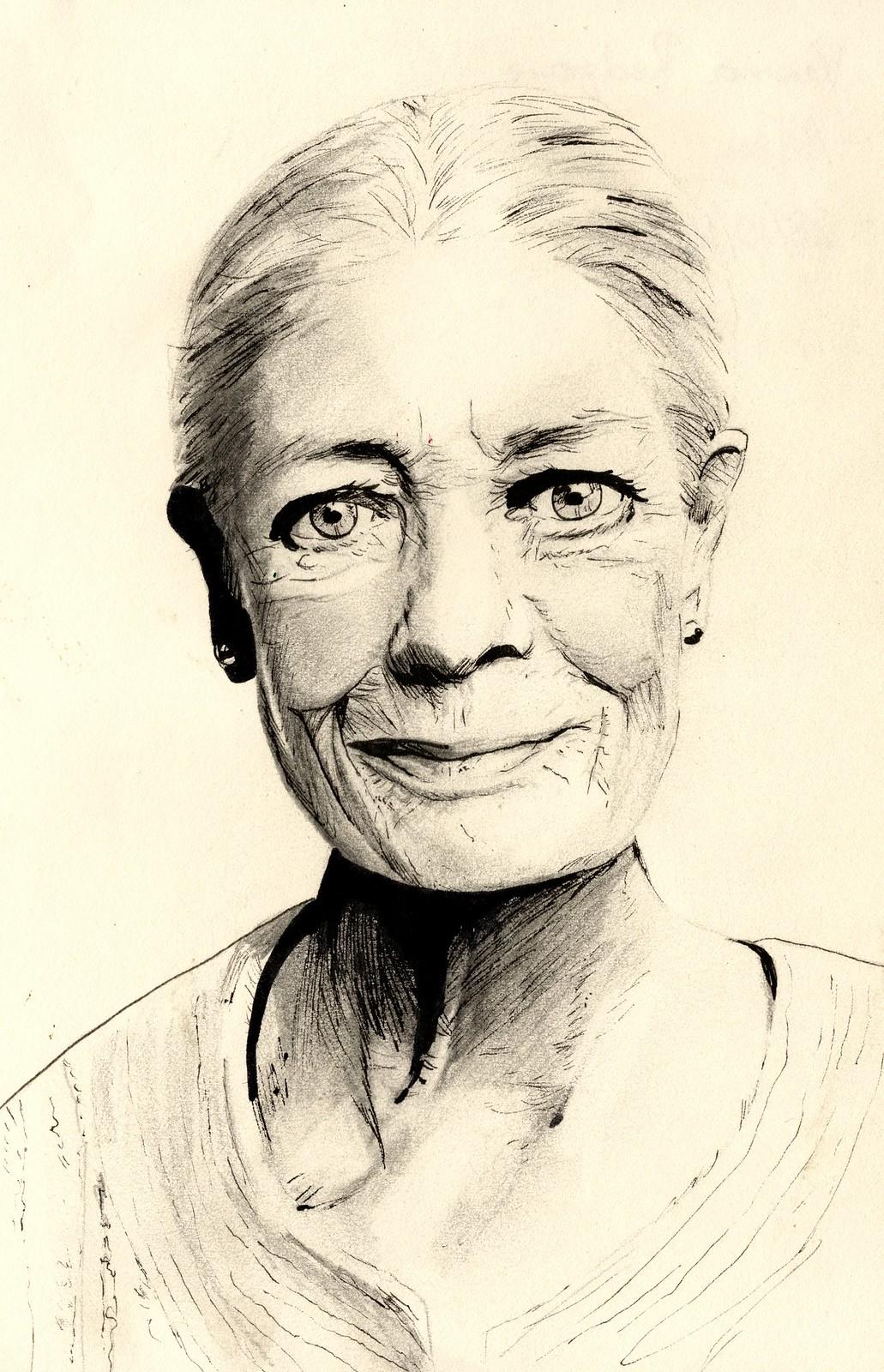 Sketchbook - Vanessa Redgrave Portrait