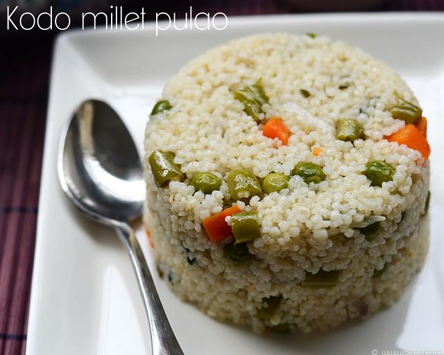 varagu pulao kodo millet pulao recipe raks kitchen