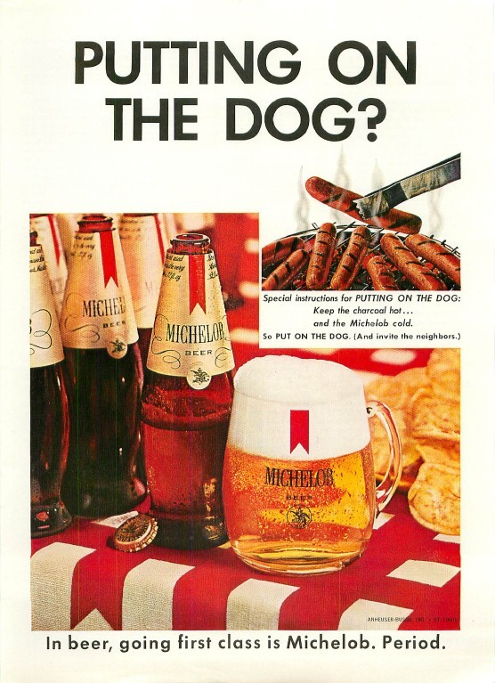 Michelob-1967-putting-on-the-dog