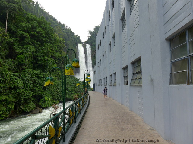 Maria Cristina Falls from the side of the power plant.
